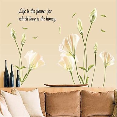 Botanisch Romantiek Stilleven Mode Bloemen Landschap Fantasie Wall Stickers Vliegtuig Muurstickers Decoratieve Muurstickers,Papier