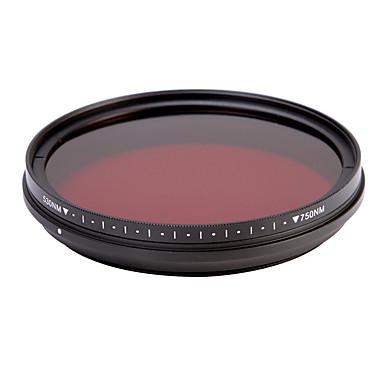 fotga® tudo-em-um ajustável 530nm-750nm passe ir infravermelho raio-x filtro de lente 62 milímetros