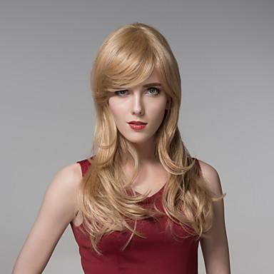 kompatibel naturlig lang Remy hånd bundet-top Fuel hår kvinnens parykk