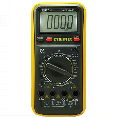 taitan vc9807a + sárga professinal digitális multiméterek