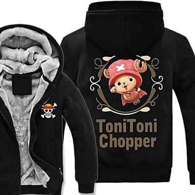 Ihlette One Piece Monkey D. Luffy Anime Szerepjáték jelmezek Cosplay Hoodies Nyomtatott Hosszú ujj Felső Kompatibilitás Férfi