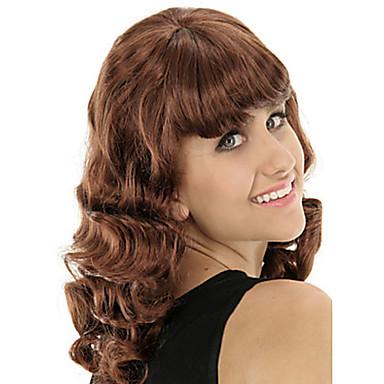 Syntetiske parykker Bølget Lokkløs Syntetisk hår