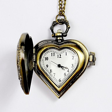 cheap Pocket Watches-Men's Pocket Watch Quartz Silver / Yellow Hollow Engraving Analog Charm