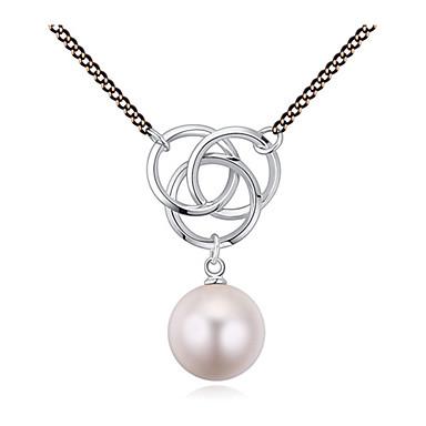 Damen Niedlich Freizeit Anhängerketten Perlenkette Kristall Perle vergoldet Österreichisches Kristall Anhängerketten Perlenkette .