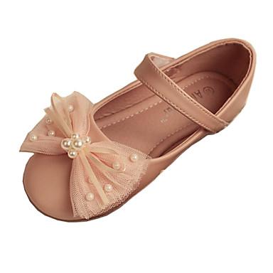 Meisjes Platte schoenen Lente / Zomer / Herfst / Winter Comfortabel / Ballerina / Ronde neus LeerHuwelijk / Formeel / Informeel / Feesten