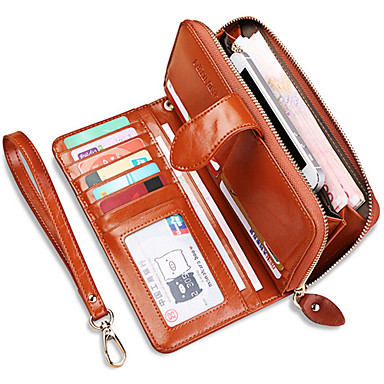 Women's Bags Cowhide Clutch Card & ID Holder Coin Purse Wallet for Event/Party Casual Sports Formal Winter Summer All Seasons Red Pink