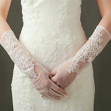 Ellenbogen Länge Fingerspitzen Handschuh Nylon Elastischer Satin Brauthandschuhe Party / Abendhandschuhe Frühling Sommer Herbst