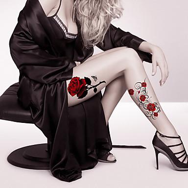 Tegneserier / Tattoo Sticker Ansigt / Krop / hænder Midlertidige Tatoveringer 2 pcs Blomster Serier / Tegneserie Serie Kropskunst