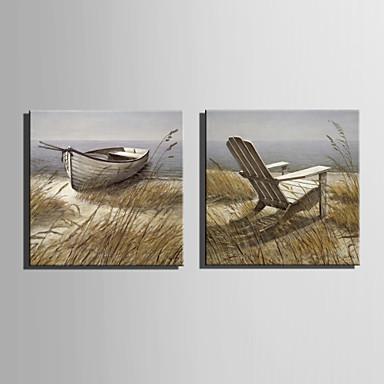 Hang malte oljemaleri Håndmalte - Landskap Europeisk Stil Lerret