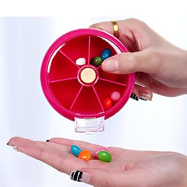 Reisemedikamentenbox Transportabel für Reiseaccessoires für den Notfall Plastik-Orange Pfirsich Rose Rot Grün Blau