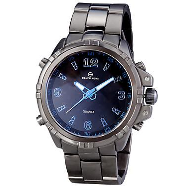 Homens Relógio de Pulso Relógio Esportivo Quartzo Alarme Calendário Cronógrafo Impermeável LED Dois Fusos Horários Luminoso Lega Banda