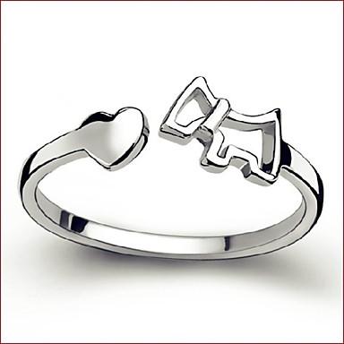 Bájos / Party / MunkahelyiÁllítható gyűrű(Ezüstözött