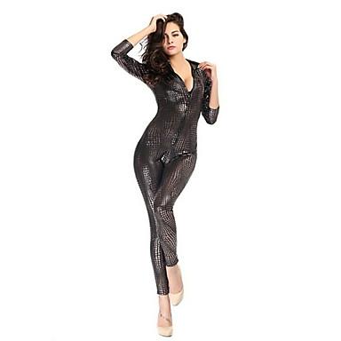Superhelter Edderkopper Film & Tv Kostymer Zentai Drakter Cosplay Kostumer Dame Sexy Uniformer Halloween Karneval Festival / høytid Drakter Svart / Grå / Gylden Ensfarget