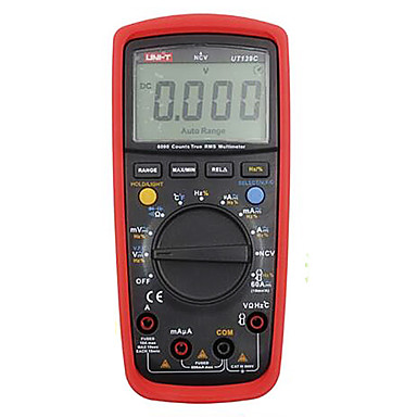uni-t ut139c piros professinal digitális multiméterek