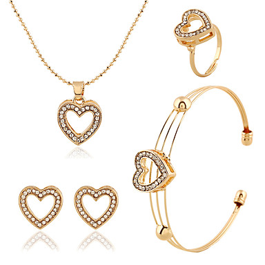 Vintage / Niedlich / Party / Büro / Freizeit-Damen-Halskette / Ohrring / Armband / Ring(Legierung / Strass)