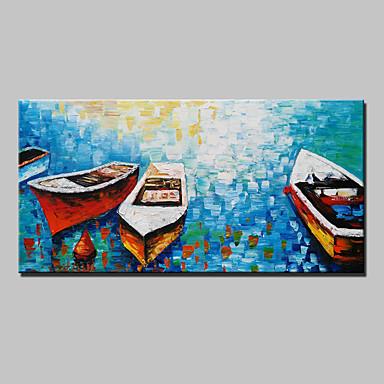 Pintados à mão Vida Imóvel Horizontal, Modern Tela de pintura Pintura a Óleo Decoração para casa 1 Painel