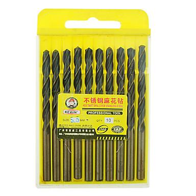 rewin® Werkzeug Edelstahl kobalthaltige Spiralbohrer Durchmesser: 5,5 mm mit 10 Stück / Karton