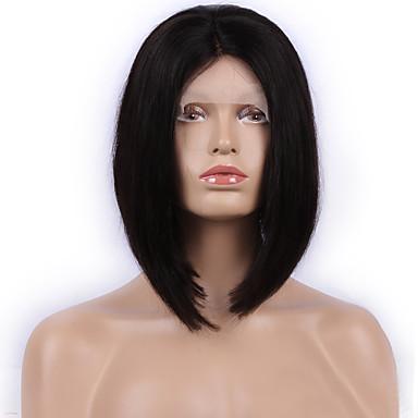 bob μόδας ευθεία 12inch βραζιλιάνα ανθρώπινα μαλλιά φυσικό χρώμα περούκα δαντέλα μπροστά