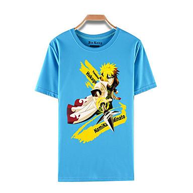 Inspirado por Naruto Naruto Uzumaki Anime Fantasias de Cosplay Cosplay T-shirt Estampado Manga Curta Blusa Para Masculino