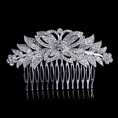 Pentes Acessórios de cabelo Cristal / Liga perucas Acessórios Mulheres 1pcs pçs 1-4 polegadas cm Festa Cristal / Boutique Fofinho