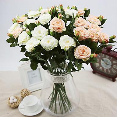 ein Zweig Seide Rosen künstliche Blumen Hochzeit Blumen Mehrfarbenwahlweise 1pc / set