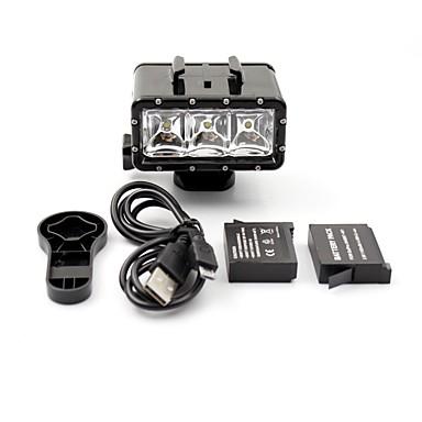 LED-Spot-Licht Wasserfest LED Zum Action Kamera Alles Gopro 5 Xiaomi Camera Gopro 4 Gopro 3 Gopro 3+ SJ4000 Tauchen Jagd-und Fischerei