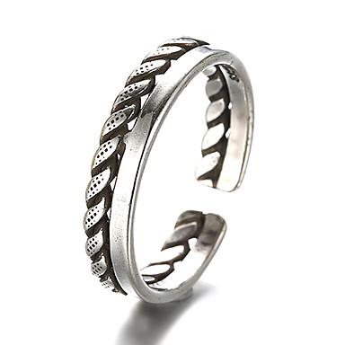 levne Fashion Ring-Band Ring Nastavitelný kroužek prstenec Stříbro Stříbrná Vintage Fashion Ring Šperky Stříbrná Pro Denní Ležérní Nastavitelný