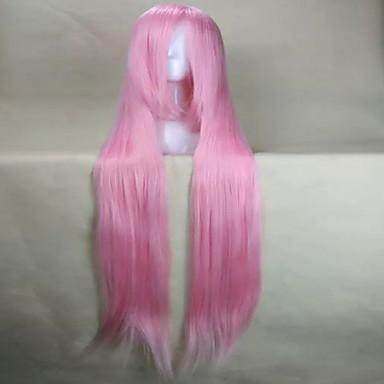 Női Szintetikus parókák Nagyon hosszú Természetes hullám Rózsaszín jelmez paróka jelmez paróka