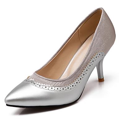 Women's Shoes Leatherette Spring / Summer / Fall Stiletto Heel Green Purple / Red / Green Heel / Dress 8a87e2