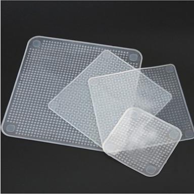 4 Stücke Silikon Lebensmittel frische Wraps halten wiederverwendbare Dichtung Abdeckung Stretch Küche Werkzeuge
