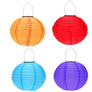 4 Stück Dekorations Beleuchtung / LED-Solarleuchten Solar / Batterie Sensor / Wiederaufladbar / Wasserfest