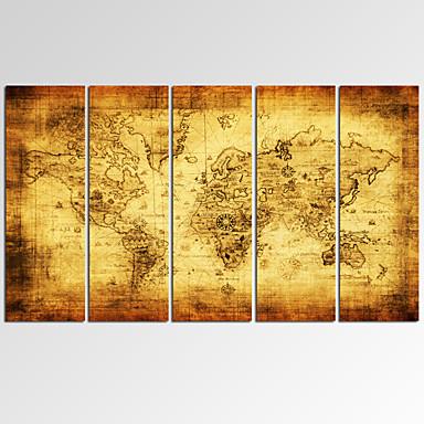 Fantasia / Lazer / Fotografia / Extravagante / Música / Patriótico / Moderno / Romântico / Mapas Impressão em tela 5 PainéisPronto para