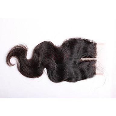 Runsaat laineet Full Lace 100% käsinsidottu Sveitsiläinen peruukkiverkko Aidot hiukset Vapaa Osa Keskimmäinen osa 3 Osa