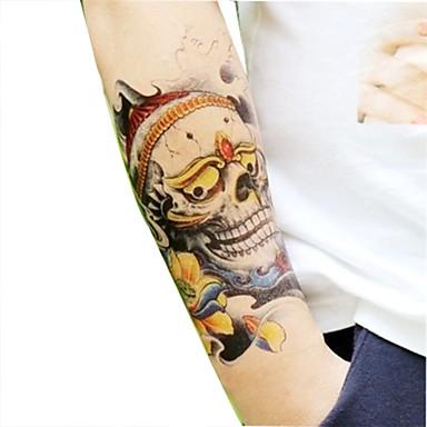 cool koponyák tetováló matricák / újév virág sorozat papír 1 db 22 * 16 * 0.1cm
