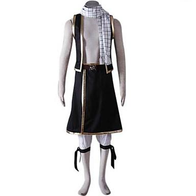 Inspirovaný Fairy Tail Natsu Dragneel Anime Cosplay kostýmy Cosplay šaty Patchwork Krátký rukáv Vesta Kalhoty Doplňky k pasu Pásek šála