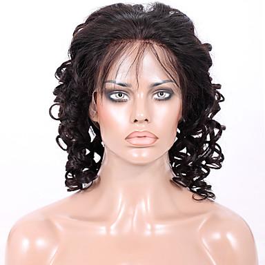 afordable glueless ili pune čipke ispred perika klasične velike spiralne kovrčava 8a Indijka djevičansko Remy ljudska kosa perika za žene