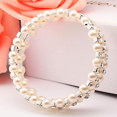 Damen Manschetten-Armbänder Künstliche Perle Aleación Silber Schmuck Für Alltag Normal 1 Stück