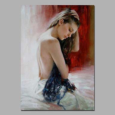 Maalattu Kuuluisa Pysty, European Style Moderni Kangas Hang-Painted öljymaalaus Kodinsisustus 1 paneeli