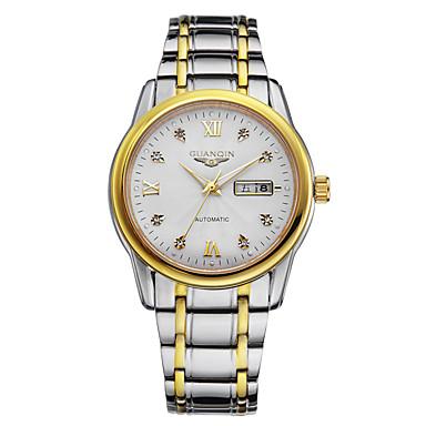 Herren Armbanduhr Automatikaufzug LED / Kalender / Wasserdicht Edelstahl Band Silber Marke