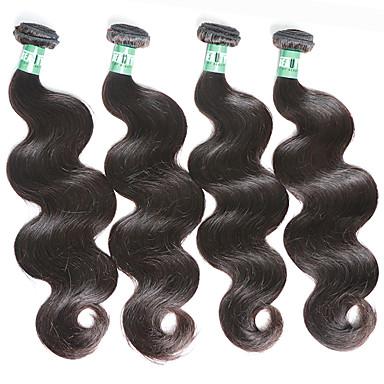 Hiukset kutoo Perulainen Runsaat laineet 4 osainen hiukset kutoo