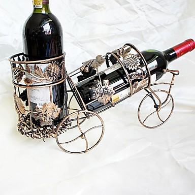 창조적 인 와인 철 병 랙 청동 철 포도 나무 자동차 모델