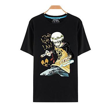 Inspirado por One Piece Roronoa Zoro Anime Fantasias de Cosplay Cosplay T-shirt Estampado Manga Curta Blusa Para Unisexo