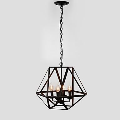 4-Light Geometrisk Anheng Lys Omgivelseslys - Stearinlys Stil, 110-120V / 220-240V Pære ikke Inkludert / 15-20㎡ / E12 / E14 / FCC