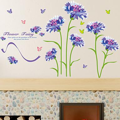 Muoti Kukkakuviot Wall Tarrat Lentokone-seinätarrat Koriste-seinätarrat materiaali Irroitettava Kodinsisustus Seinätarra