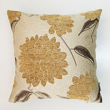 1 kpl Chenille Polyesteri Tyynynpäälinen, Kukka Perinteinen