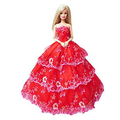 Princesa Vestidos Para Boneca Barbie Vestidos Para Menina de Boneca de Brinquedo