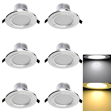 3000/6000 lm Downlights 6 leds SMD 5730 Dekorativ Varm hvid Kold hvid AC 110-130V AC 220-240V AC 85-265V
