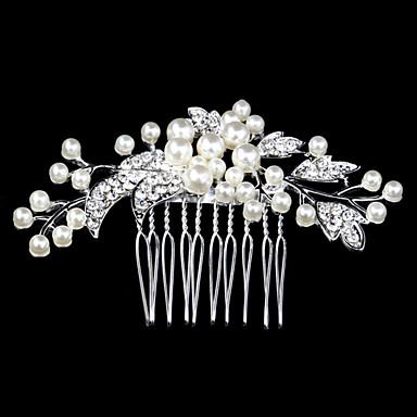 Damen Kristall / Party / Hochzeit, Künstliche Perle Haarekamm / Haarkämme