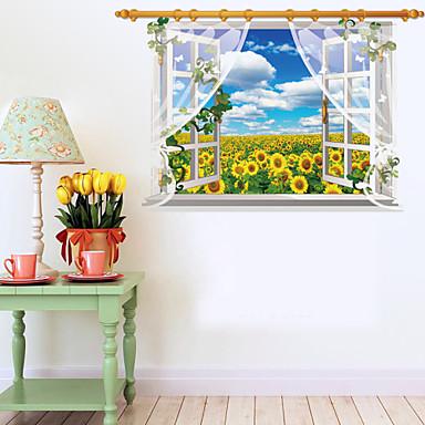 Botânico / Desenho Animado / Romance / Moda / Floral / Feriado / Paisagem / Formas / Transporte / 3D / Fantasia Wall StickersAutocolantes