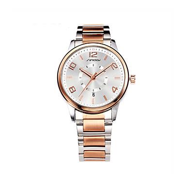 SINOBI Men's Wrist watch Quartz Calendar / date / day Water Resistant / Water Proof Sport Watch Alloy Band Charm Rose Gold